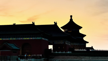Temple of Heaven, Beijing, China. Timelapse