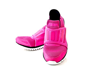 Pair of pink lady sport shoes