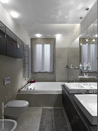 Bagno moderno con vasca da bagno immagini e fotografie - Bagno moderno con vasca ...