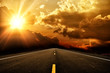 Road and the sunset
