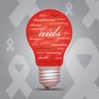 AIDS awareness lightbulb