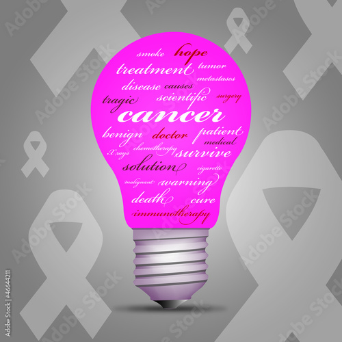 Cancer awareness light bulb