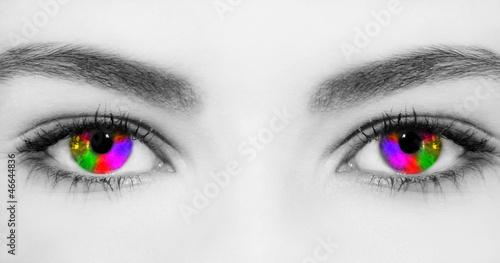 Leinwandbild Motiv Rainbow eyes