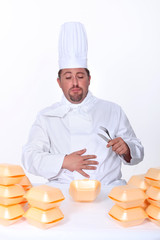 chef sick after eating too many burgers