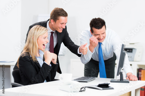 begeistertes teamwork