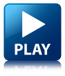 PLAY Blue Square Button