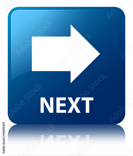 NEXT (Arrow Icon) Blue Square Button