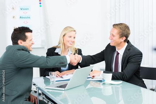 Leinwanddruck Bild vertragsverhandlungen