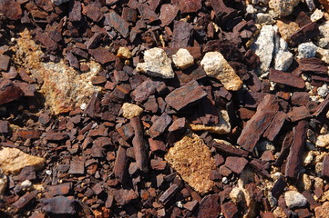 texture di ruggine e granito