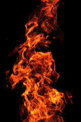 red flame background