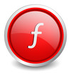 Filin red button - design web icon