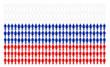 Bandiera russa formata da tante persone