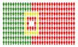 Bandiera portogallo formata da tante persone