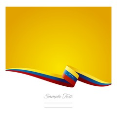 Abstract color background Venezuelan flag vector