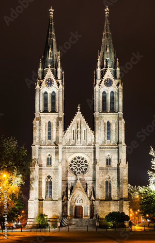 Ludmila Church in Prague, Namesti Miru square
