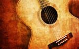 Fototapety old guitar