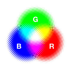 The three primary colours_RGB #Vector