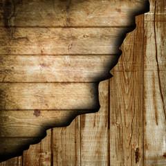 vintage legno su legno