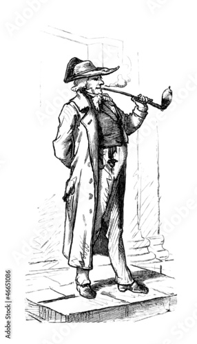 Pipe Smoker - 19th century