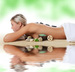 Spa Woman .  Stone Massage