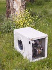 Washing machine abandoned in nature