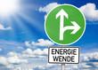 Wegweiser mit Energiewende