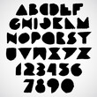 Hand drawn alphabet letters set, isolated.