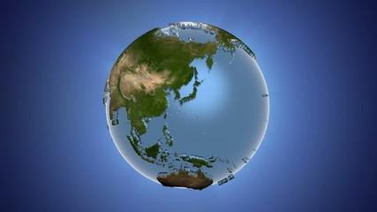 планета земля на голубом фоне