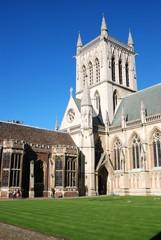 campus building in Cambridge