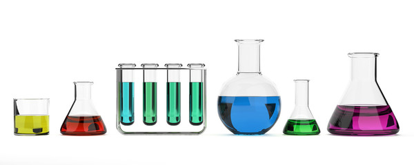 Test tubes and beakers- Lab