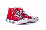 vintage red shoes isolated