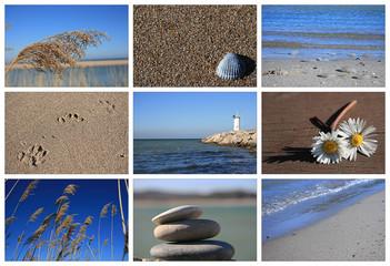 Sea And Beach Concept-Collage,Black Sea-Istanbul