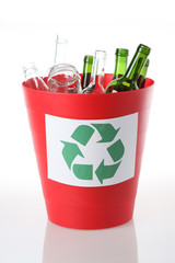 Recycling bin- glass