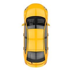 Yellow Car Top View