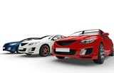 Fototapety Cars Side By Side