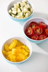 Schälchen mit Gemüse