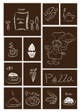 Restaurant and food icons set