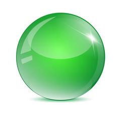 Sfera verde metallizzato
