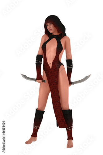 Fantasy female assassin