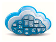 Cloud computing. Clouds as application icons