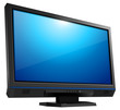 lcd tv monitor isolated,  vector illustration.