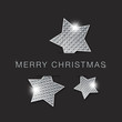 merry christmas abstract metal stars