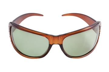 Sunglasses in a brown frame