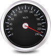 Automobile Speedometer. Vector