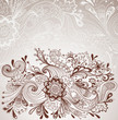 Romantic hand drawn floral background