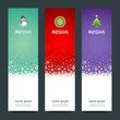 Merry Christmas banner vertical background, vector