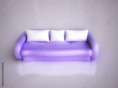 Comfortable Sofa in 3D