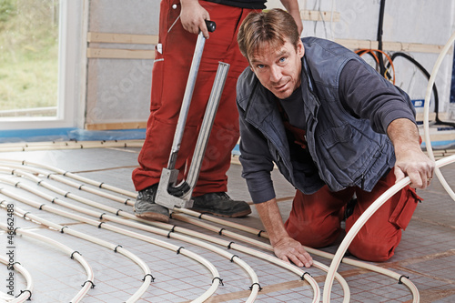 installing the floor heating