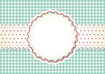 Karo-Hintergrund Button