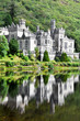 Kylemore Abbey in Connemara mountains, Ireland